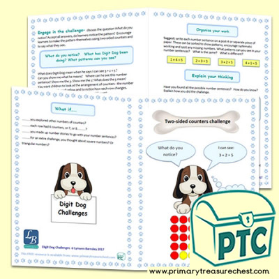 Digit Dog Two Sided Counters Maths Challenge