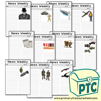 World War Two Themed Flashcards