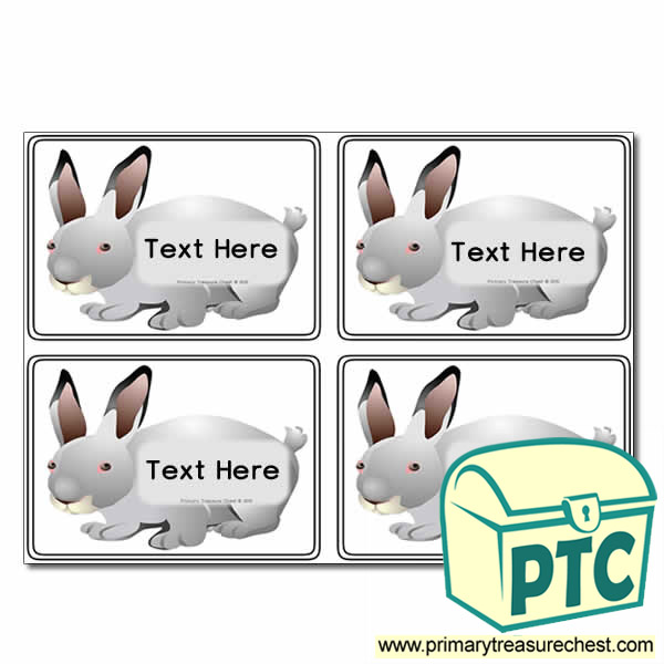 Animal - Rabbit Themed Registration Name Cards
