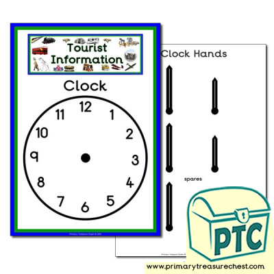 Tourist Information Role Play Clock