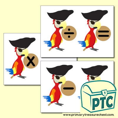 Pirate Parrot Number Line Maths Symbols