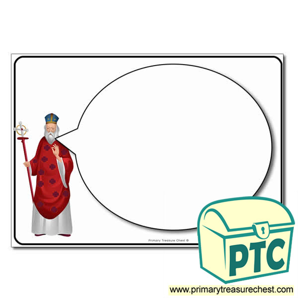 Saint David Speech Bubble Worksheet