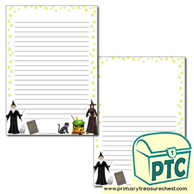 Magic Spells Page Border /Writing Frame (narrow lines)