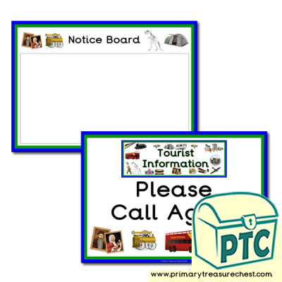 Tourist Information Role Play Signs