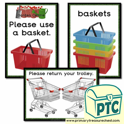 Garden Centre Basket / Trolley Signs