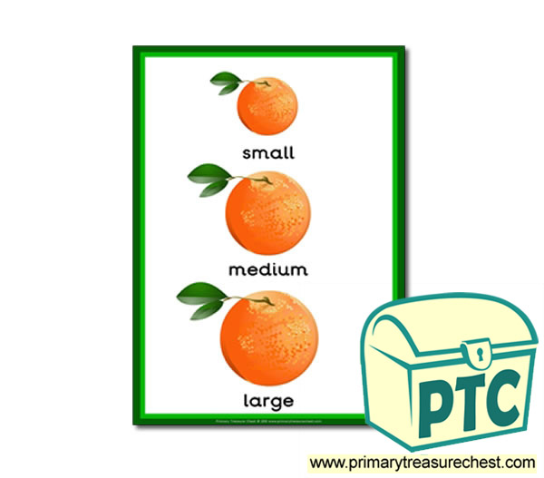 Oranges themed Small - Medium - Large A4 poster