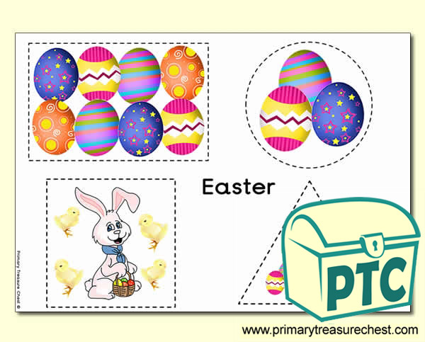 Easter Themed Scissor Control Worksheet