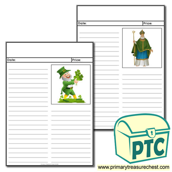 Irish/Saint Patrick's Day Newspaper Worksheet