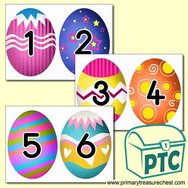 Easter Themed Number Cards 0 to 25