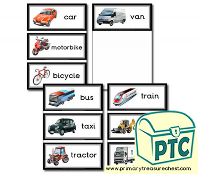 Land Transport Themed Flashcards
