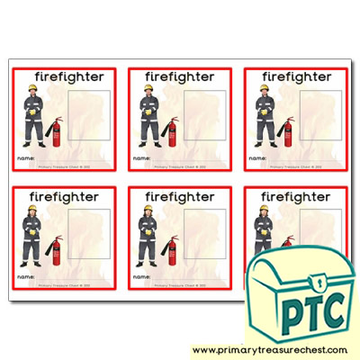 Firefighter labels / ID badges