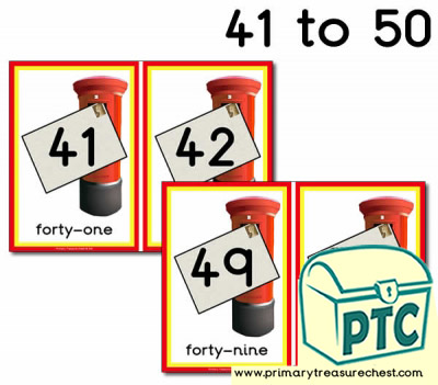 Postbox Number Line 41-50
