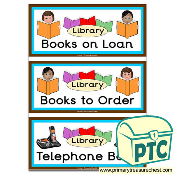 Role Play Library Book Covers / Labels
