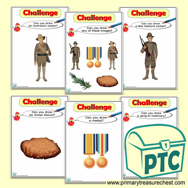 Anzac Themed ICT Challenge Cards