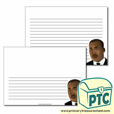 Martin Luther King Jr Themed  Landscape Page Border/Writing Frame (narrow lines)
