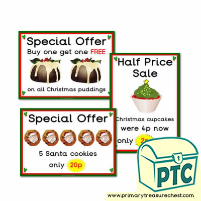 Christmas Cafe Special Offers Posters (1-20p)