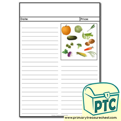 Vegetables Themed Newspaper Worksheet