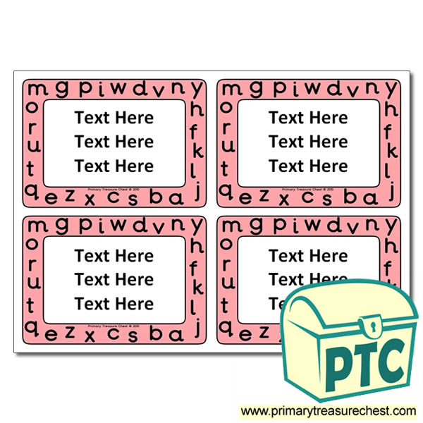 Sounds/Alphabet Themed Pupil / Work Book Labels
