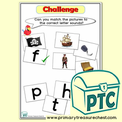Pirate Phonic Letter Sound Challenge Matching Sounds with Pictures