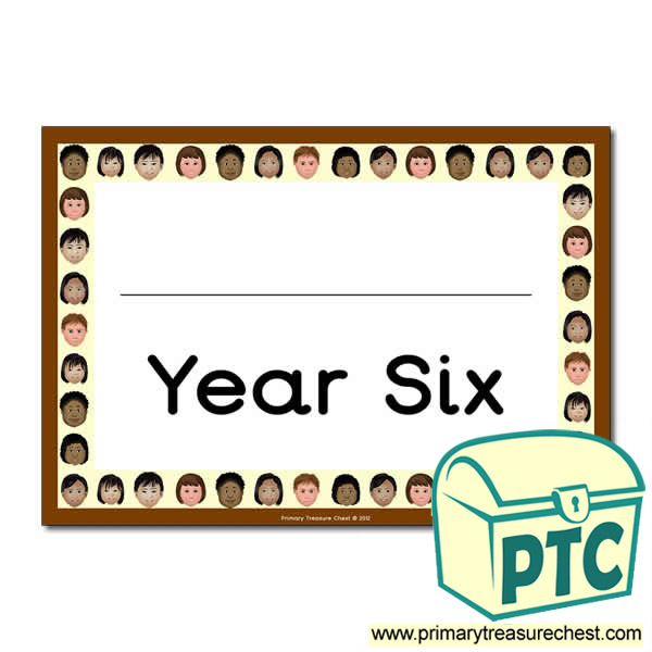 Year Six Classroom Door Sign