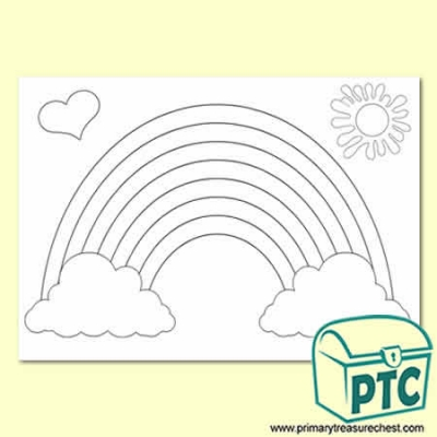 FREE A3 Rainbow Colouring Sheet