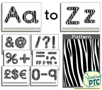 Zebra themed Display Lettering