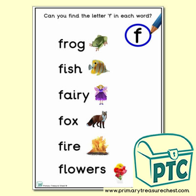 Find the Letter 'f' Activity Sheet