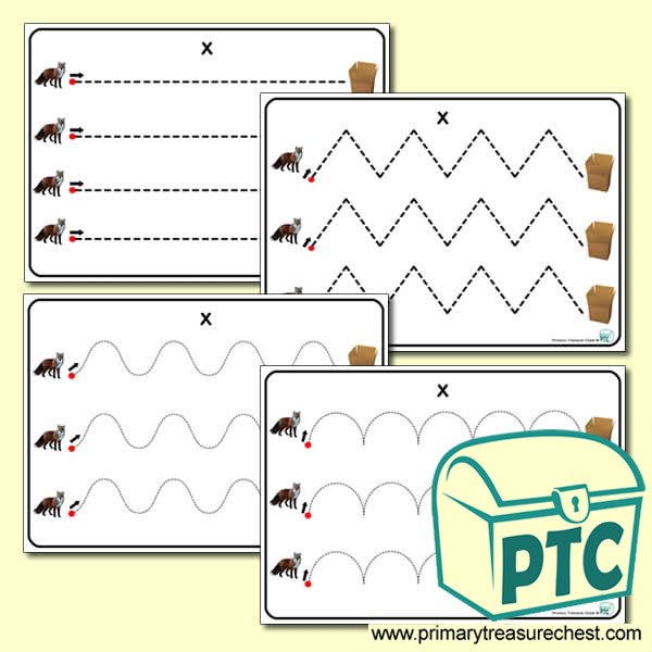 'Xx' Themed Pre-Writing Patterns Activity Sheets