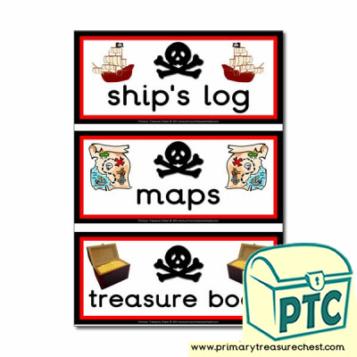 Pirate Role Play Book Labels