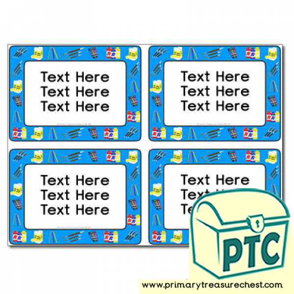 Classroom equipment Themed Pupil / Work Book Labels