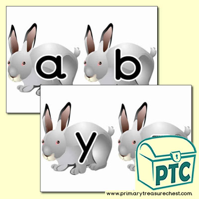Rabbit Themed Alphabet Cards