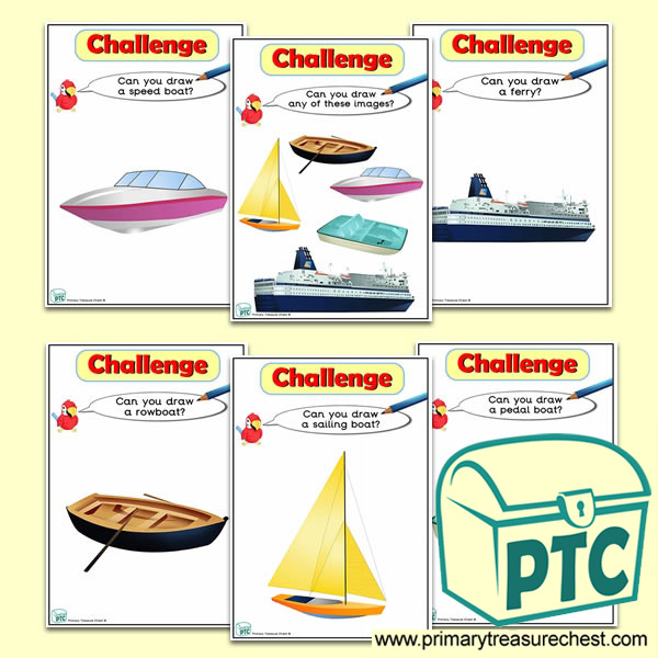 Sea Transport Themed ICT Challenge Cards