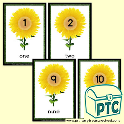 Sunflower  Number Line 1-10