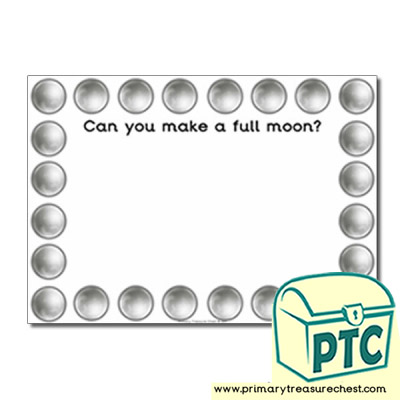 Moon Themed Topic Playdough Mat