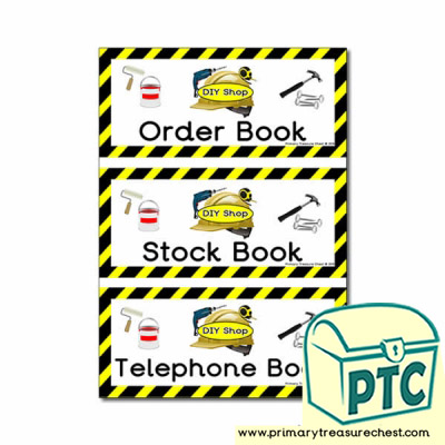 DIY Shop Role Play Book Covers / Labels