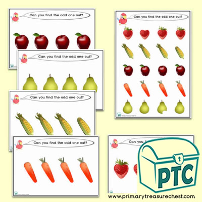Odd-One-Out Fruit & Vegetable / Healthy Eating Challenge Activity Stage 3