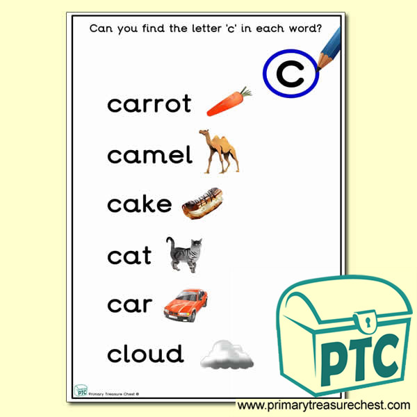 Find the Letter 'c' Activity Sheet