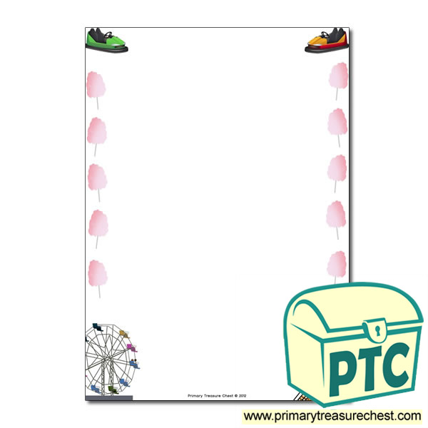Fairground Page Border/Writing Frame (no lines)