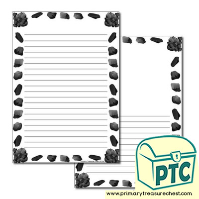 Coal Page Border/Writing Frame (narrow lines)