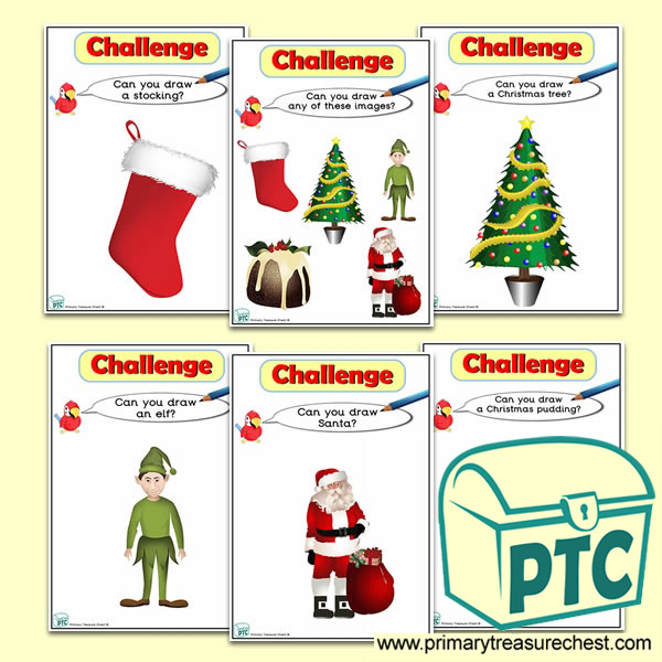 Christmas Themed ICT Challenge Cards