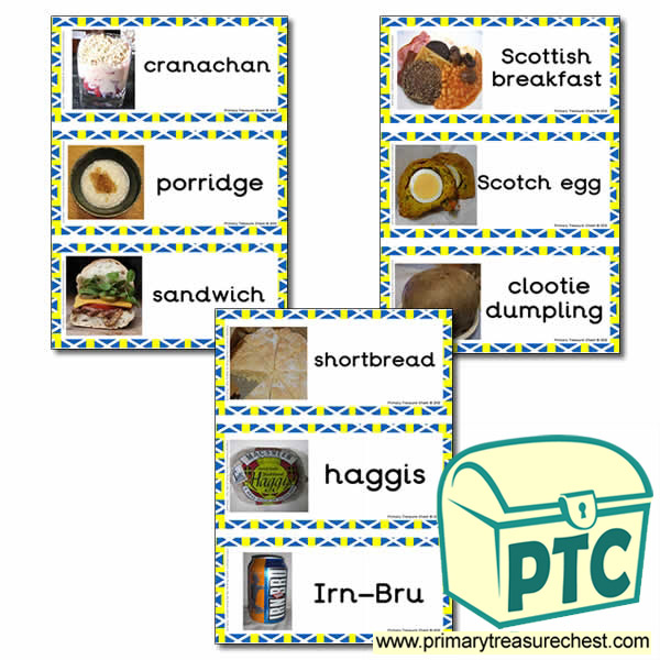 Scottish Food Themed Flashcards with Photos