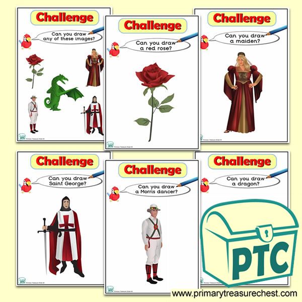 St George's Day Themed ICT Challenge Cards