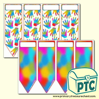 Mixed Colour Pattern Bookmarks