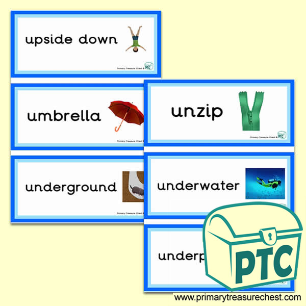 Letter 'u'  Themed Flashcards