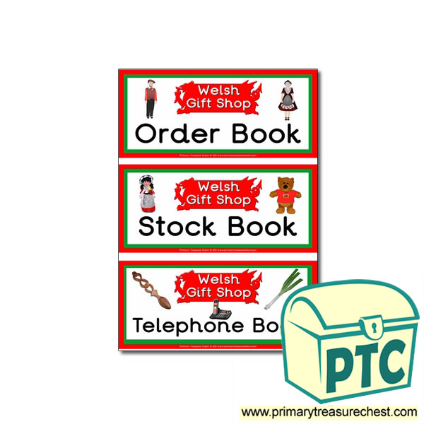 Role Play London Gift Shop Book labels