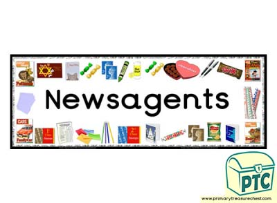 'Newsagents' Display Heading/ Classroom Banner