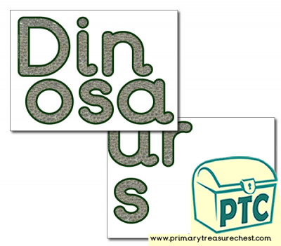 Display Letters  'Dinosaurs'