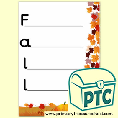 Fall Themed Acrostic Poem