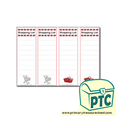 Role Play Welsh Gift Shop Shopping Lists