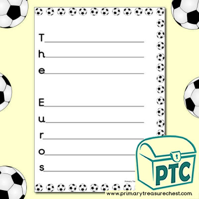 'The Euros' Acrostic Poem Worksheet